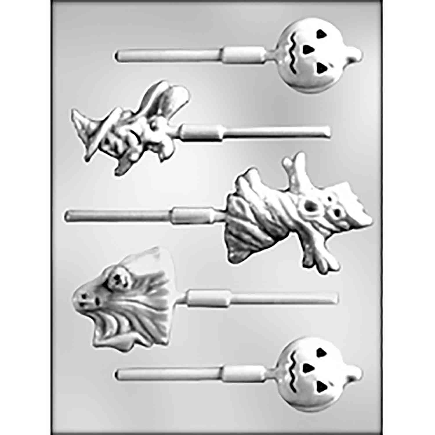 Halloween Assortment 1 Sucker Candy Mold