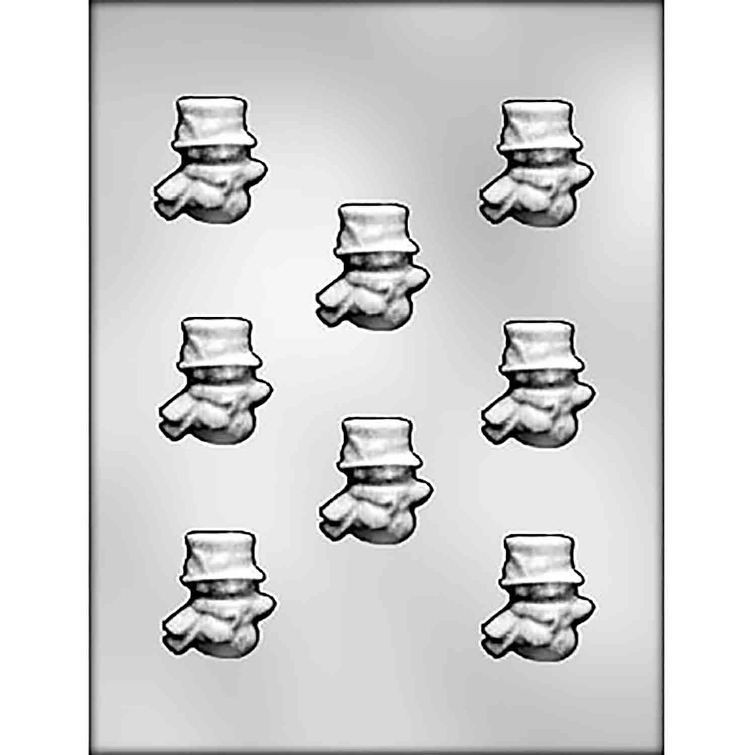 Snowman with Scarf Chocolate Candy Mold