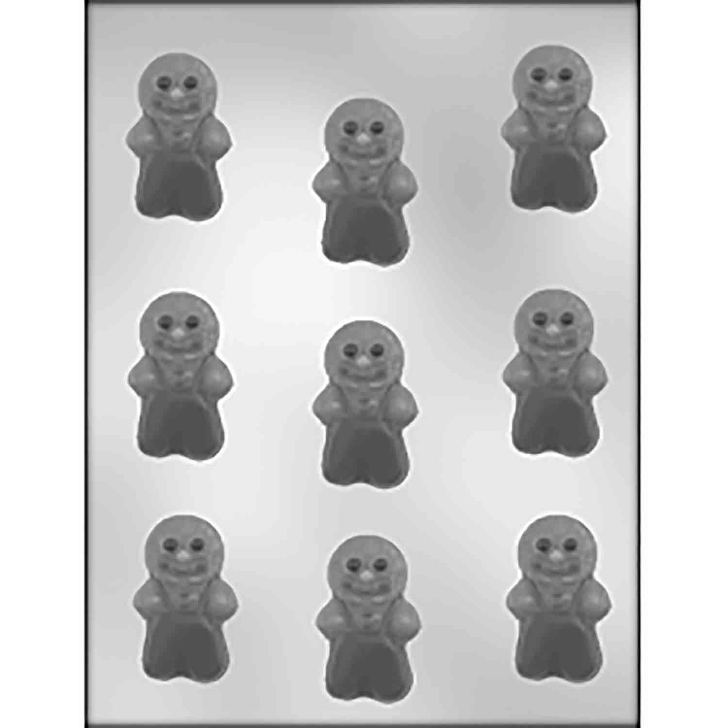 Gingerbread Boys Chocolate Candy Mold