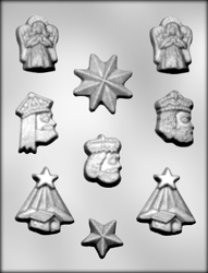 Manger, Angels, Stars & Wise Men Candy Mold