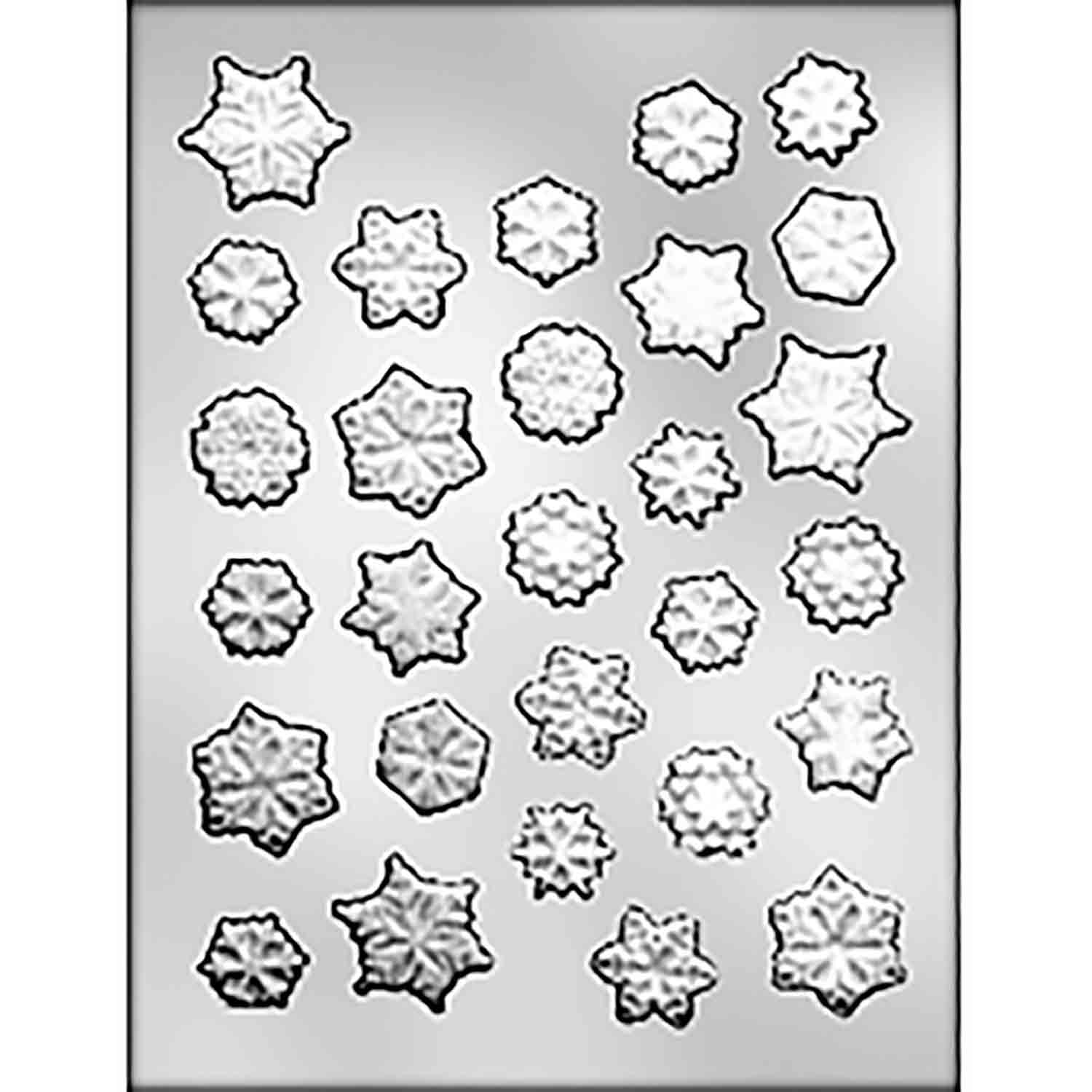 Snowflake Assortment from Indiana Candy Mold