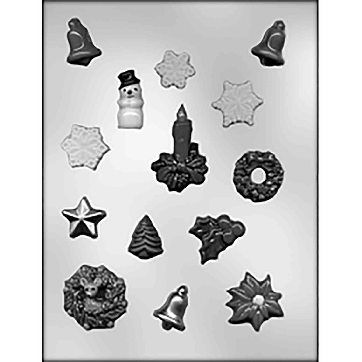 Christmas Assortment 1 Chocolate Candy Mold
