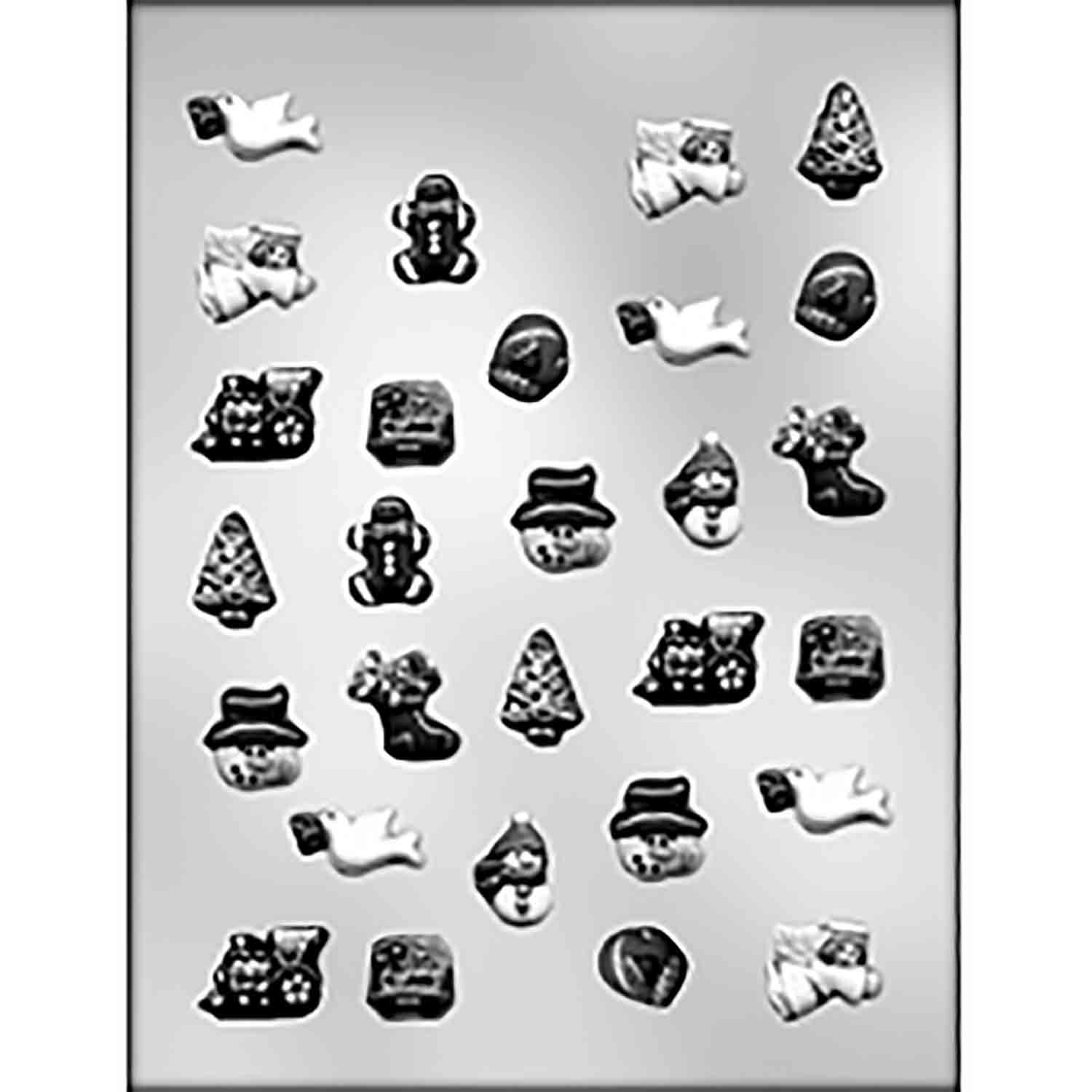 Small Christmas Assortment 2 Chocolate Candy Mold