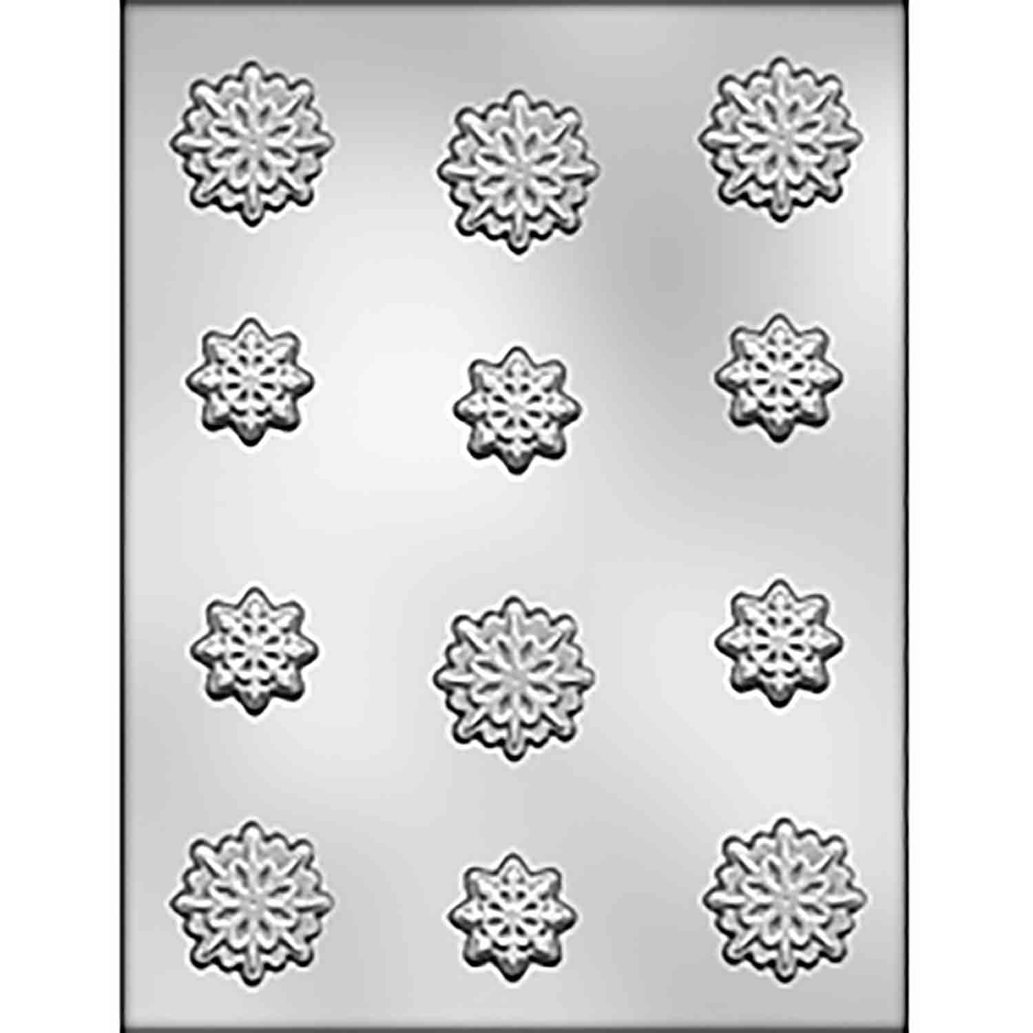 8 Point Snowflakes Assortment Chocolate Candy Mold