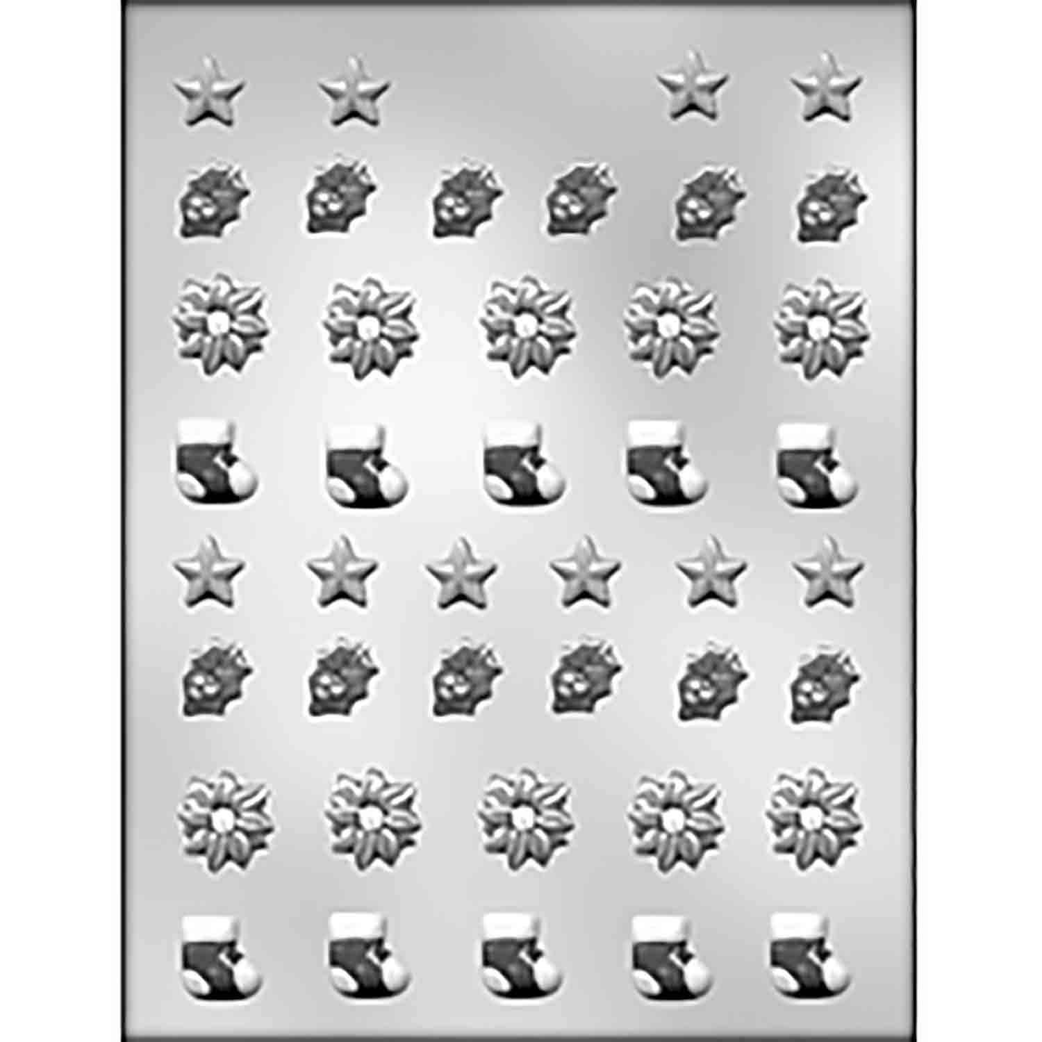 Mini Christmas Assortment Chocolate Candy Mold