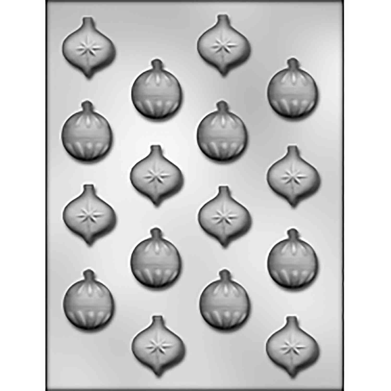 Bite-Size Christmas Ornaments Chocolate Candy Mold
