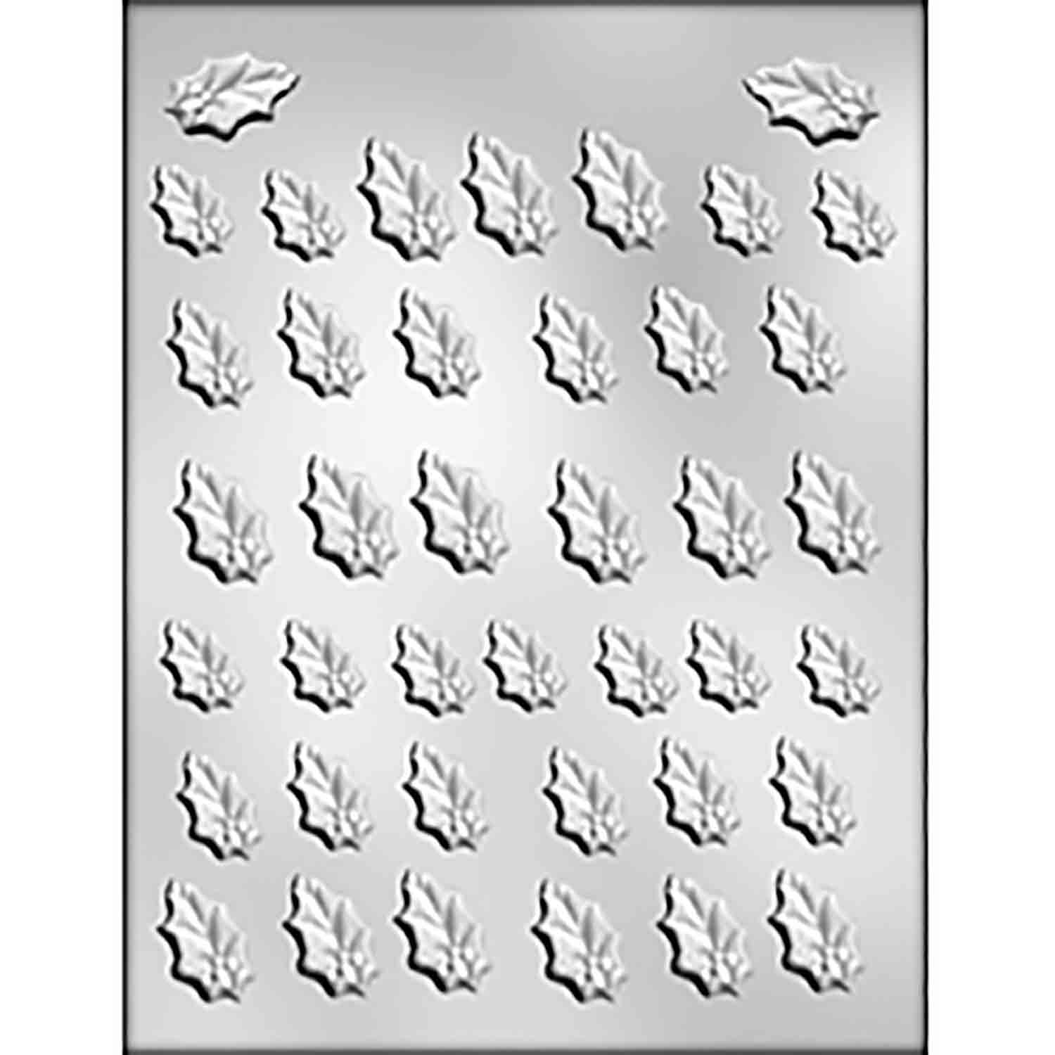 Small Holly Leaves Chocolate Candy Mold