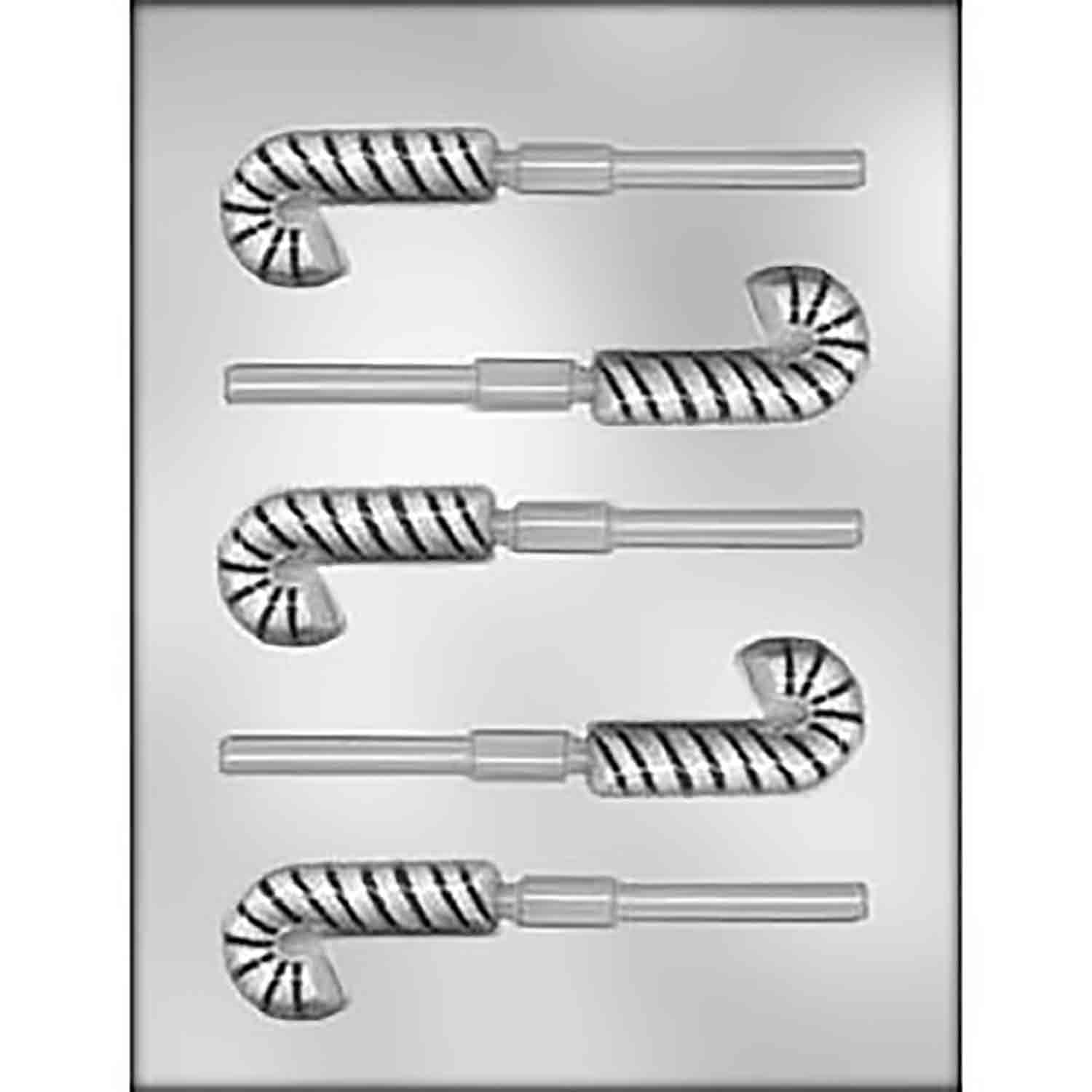 Candy Cane Sucker Chocolate Candy Mold