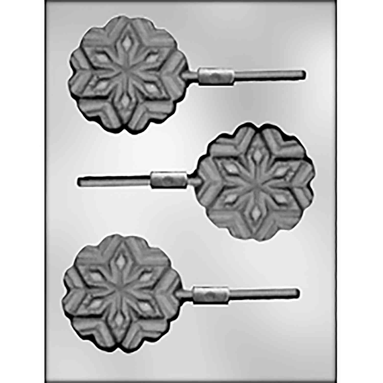 Large Snowflake Sucker Chocolate Candy Mold