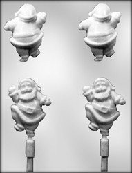 3D Santa Sucker Chocolate Candy Mold