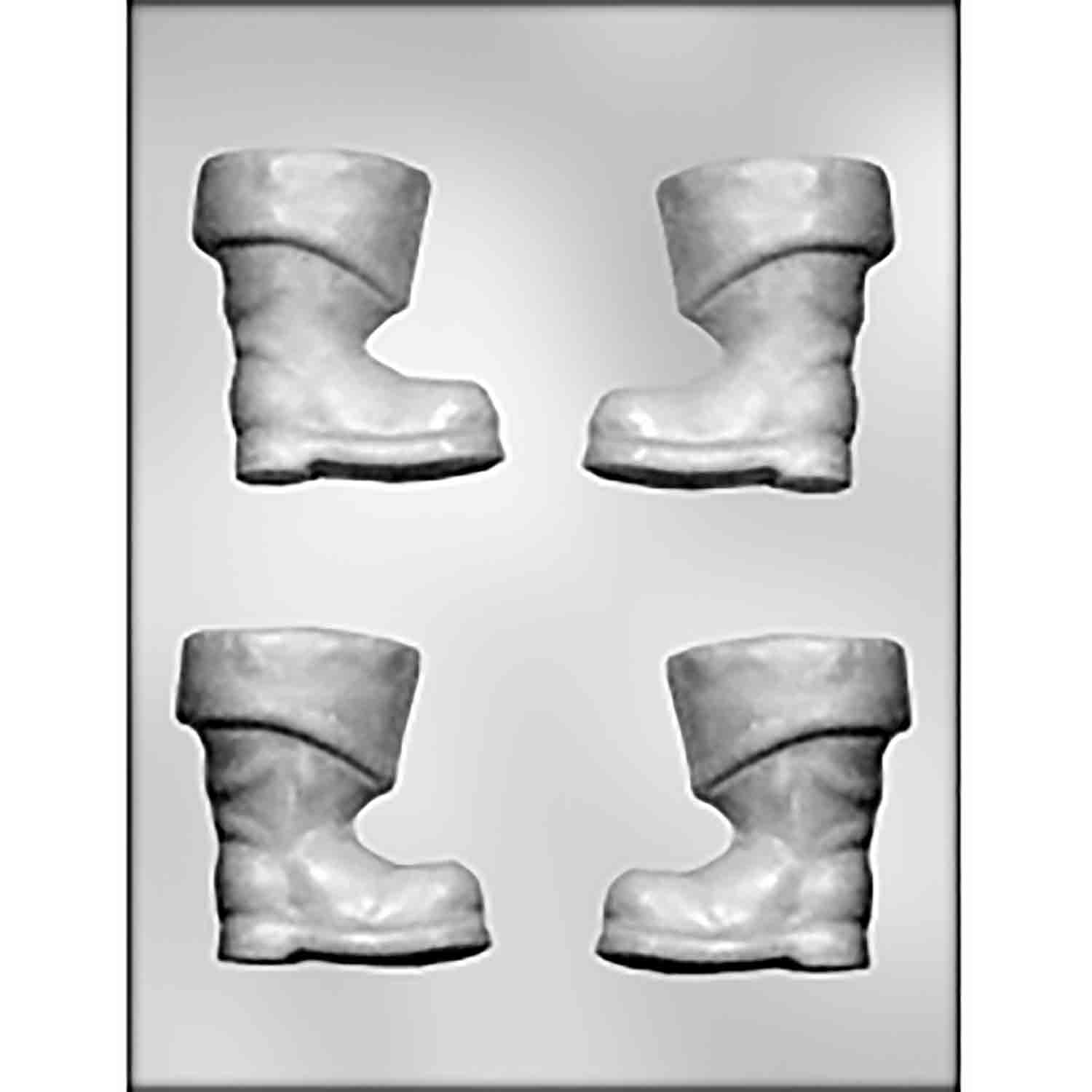 3D Santa's Boot Chocolate Candy Mold