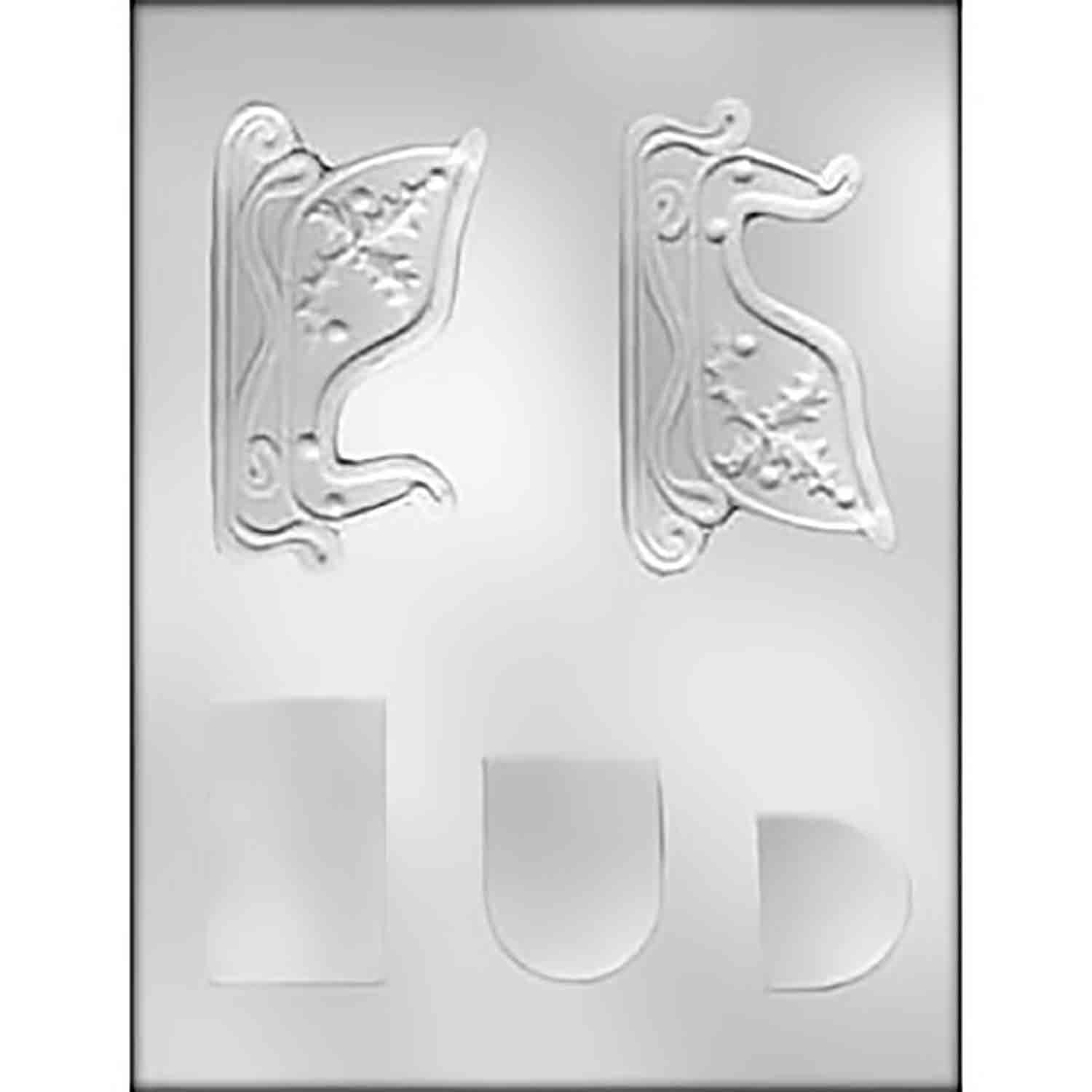 3D Sleigh Chocolate Candy Mold