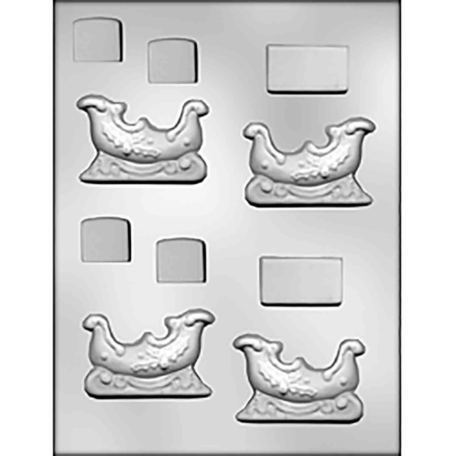 Sleigh Chocolate Candy Mold