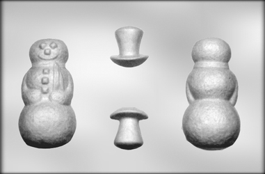3D Large Snowman Chocolate Candy Mold