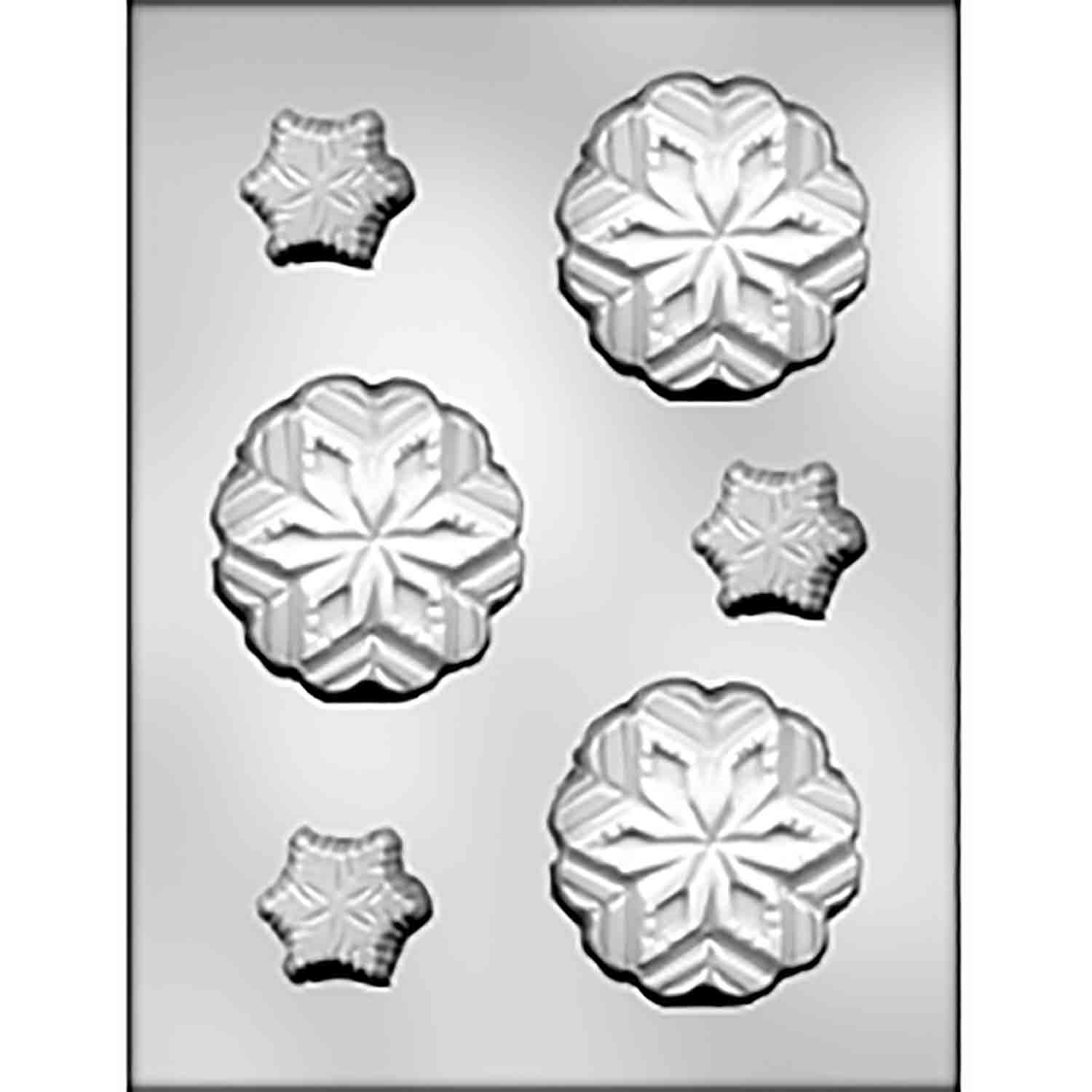 Large & Small Snowflakes Chocolate Candy Mold