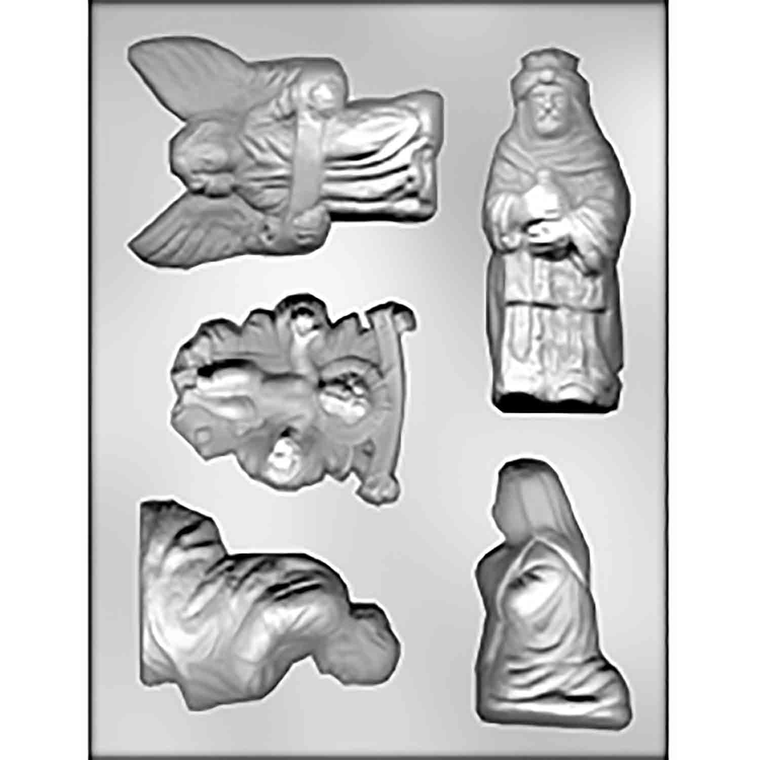 Nativity Scene 2 Chocolate Candy Mold