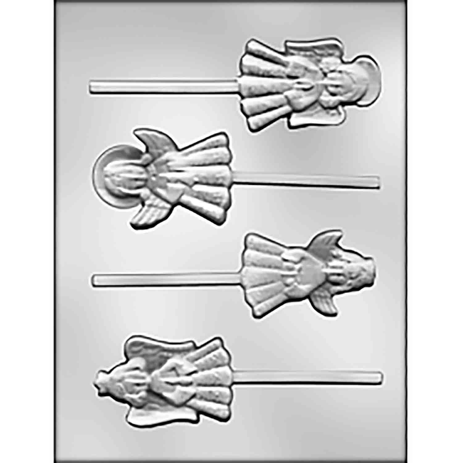 Angel Assortment Sucker Chocolate Candy Mold