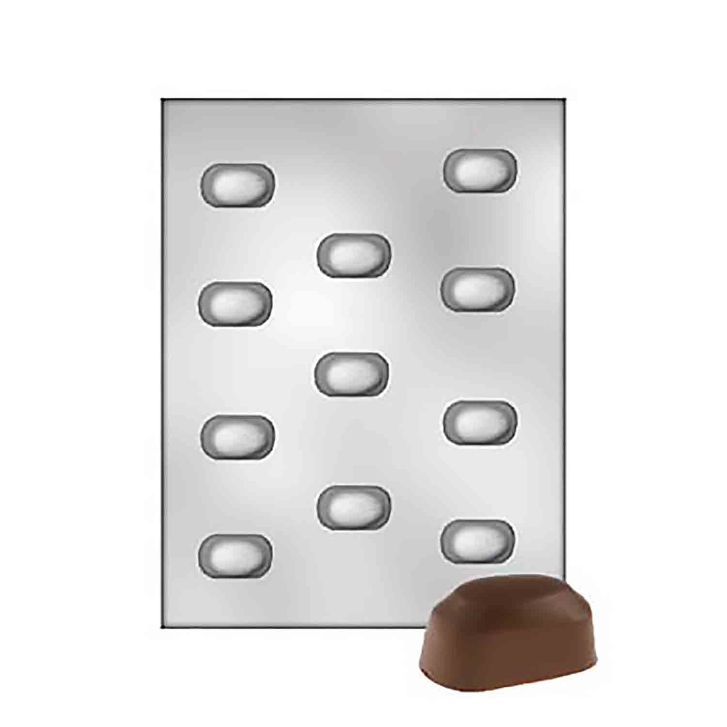 Almond Nibbles Chocolate Candy Mold