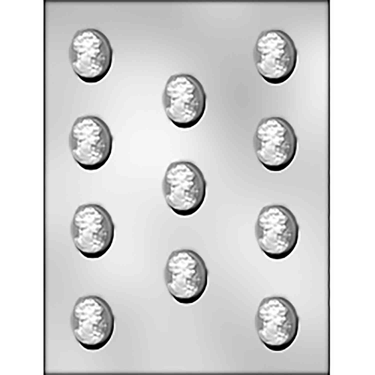 Medium Cameo Chocolate Candy Mold