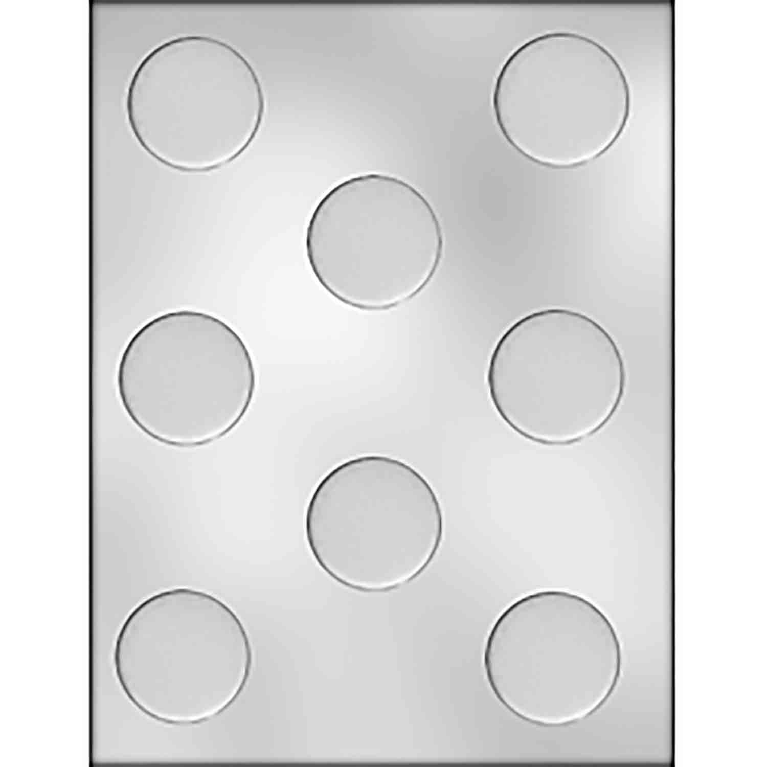 Plain Circle Mint Chocolate Candy Mold