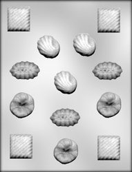 4 Assorted Fancy Shapes Chocolate Candy Mold