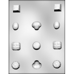 6 Deep Fancy Designs Chocolate Candy Mold