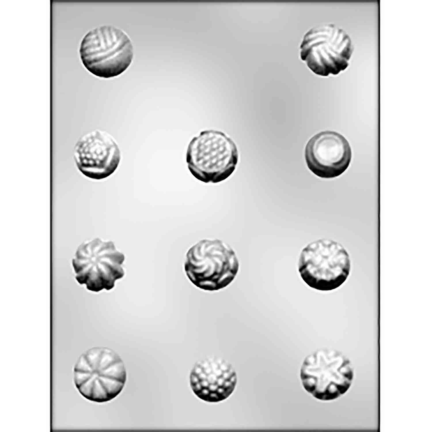 Fancy Rounds Chocolate Candy Mold