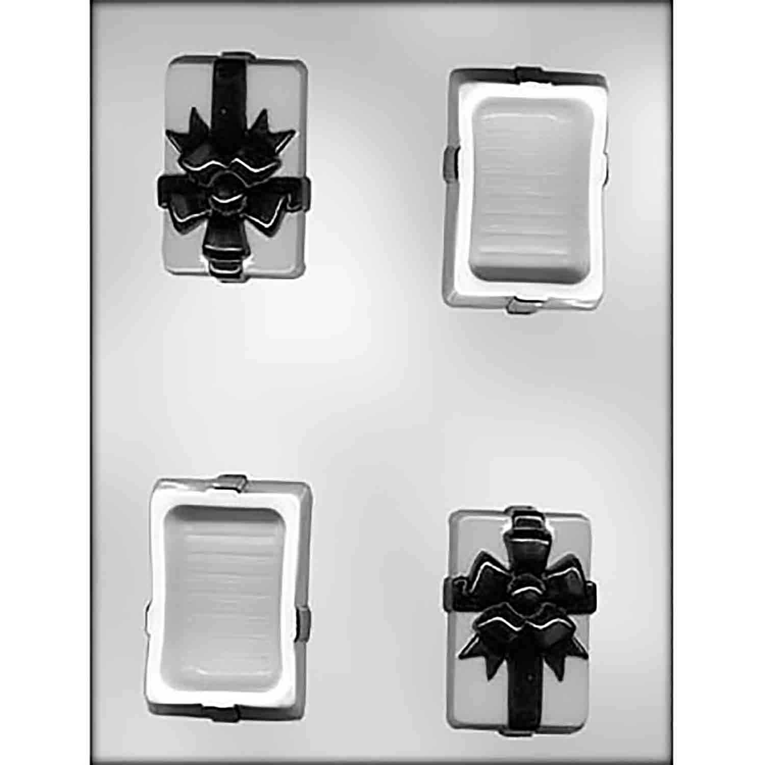 Pour Box with Bow Chocolate Candy Mold