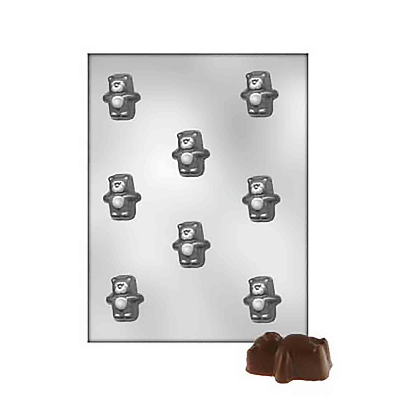 Deep Puffy Bear Chocolate Candy Mold