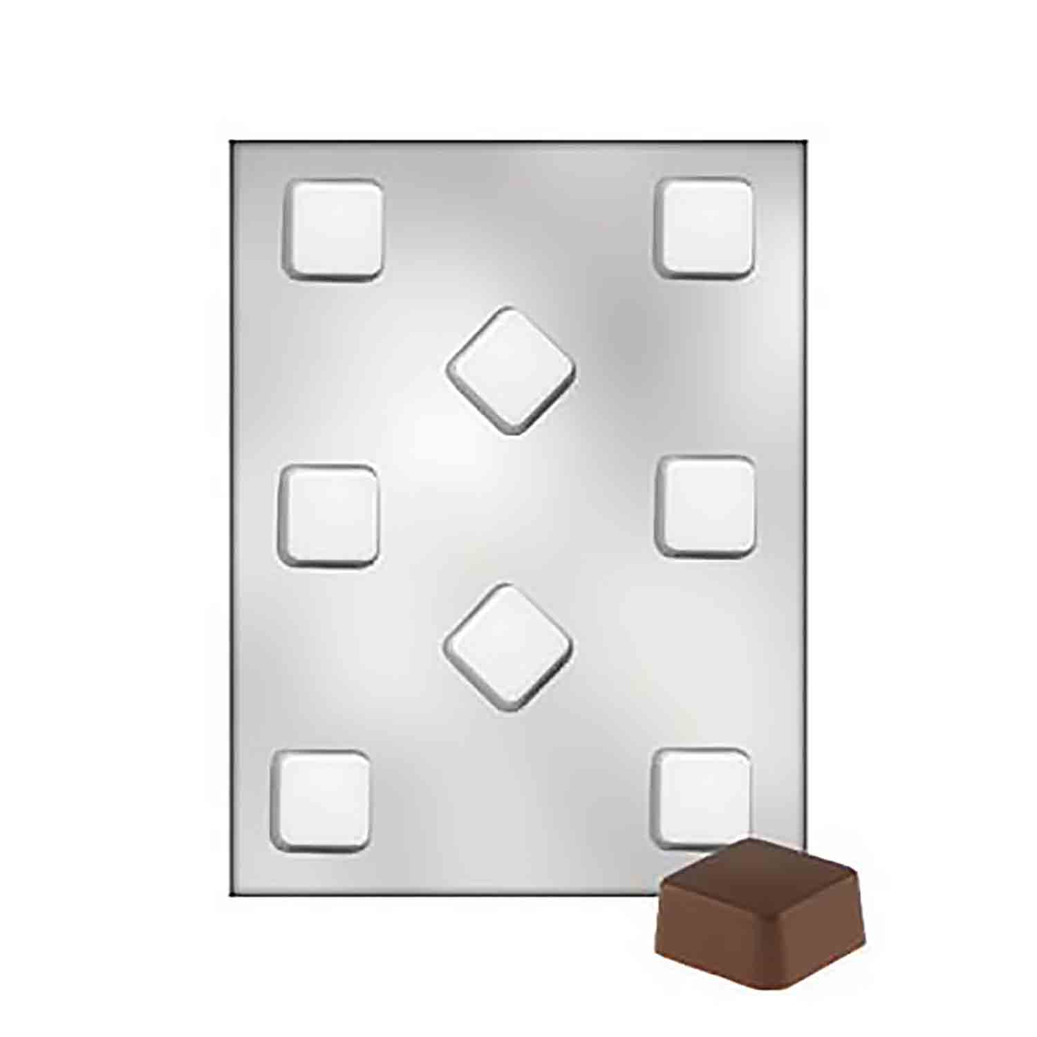 Square Petit Four Chocolate Candy Mold