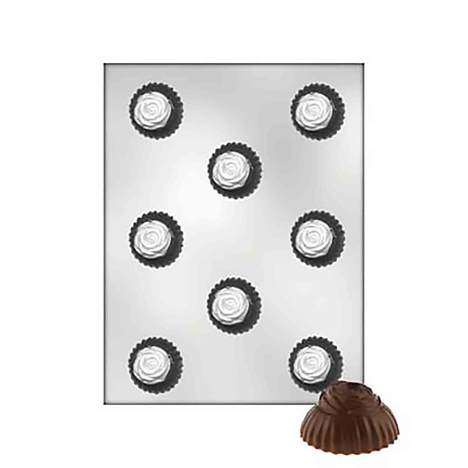 Rose-Topped Truffle Chocolate Candy Mold