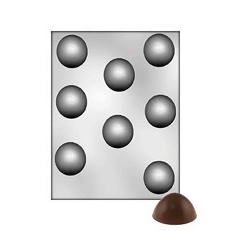 Round Plain Truffle Chocolate Candy Mold