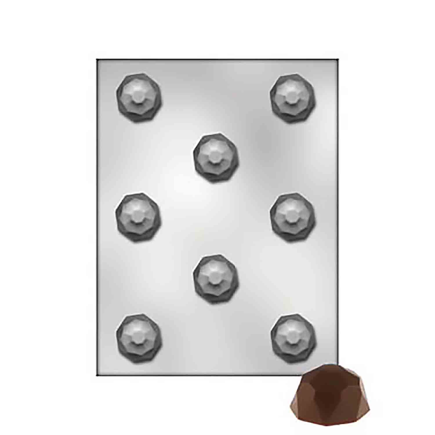 Faceted Dome Chocolate Candy Mold