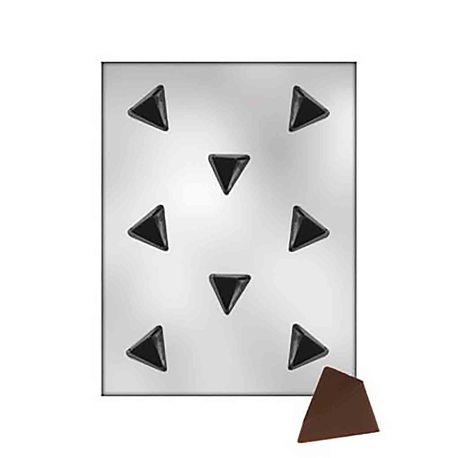 Sloping Triangle Bon Bon Chocolate Candy Mold