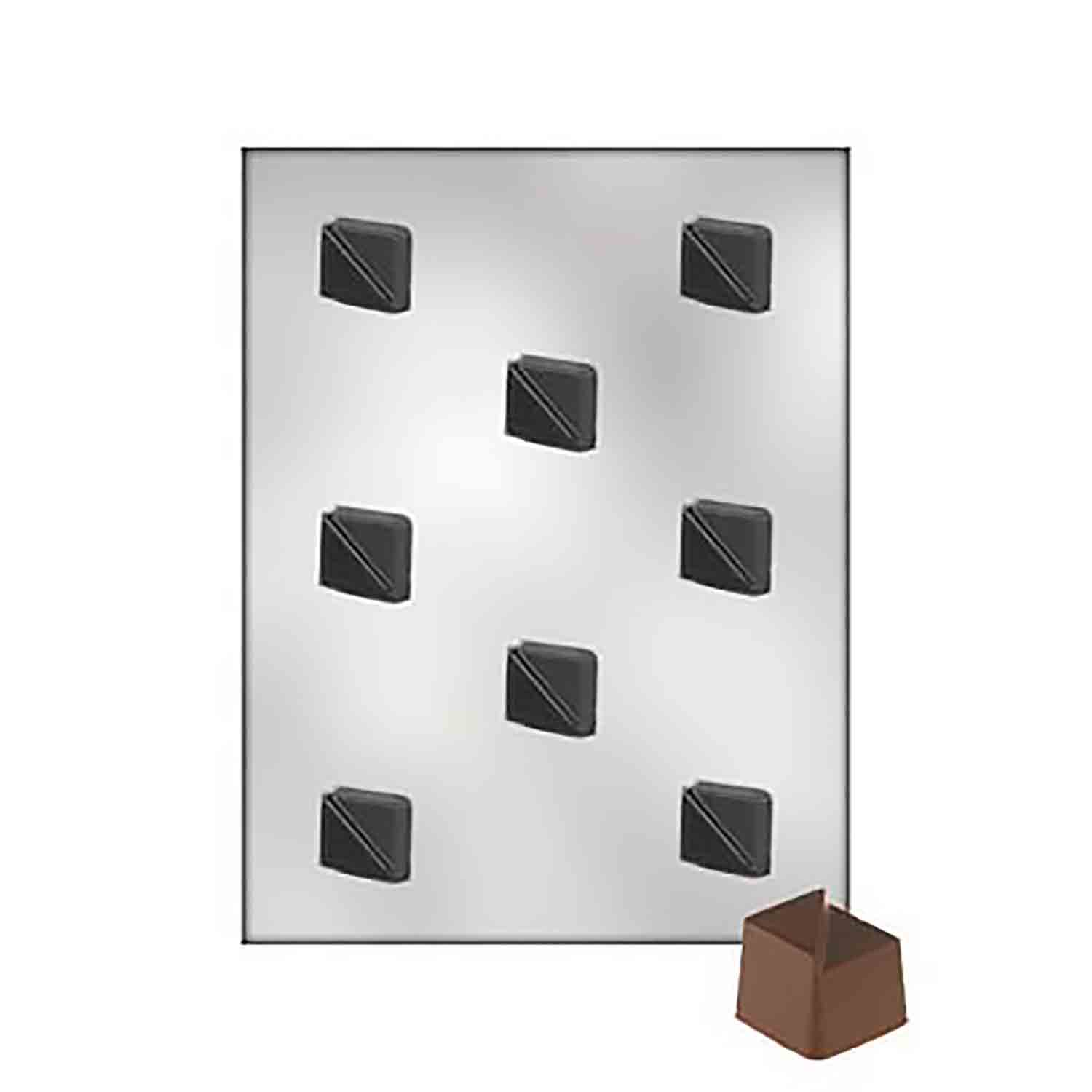 Split Diamond Bon Bon Chocolate Candy Mold
