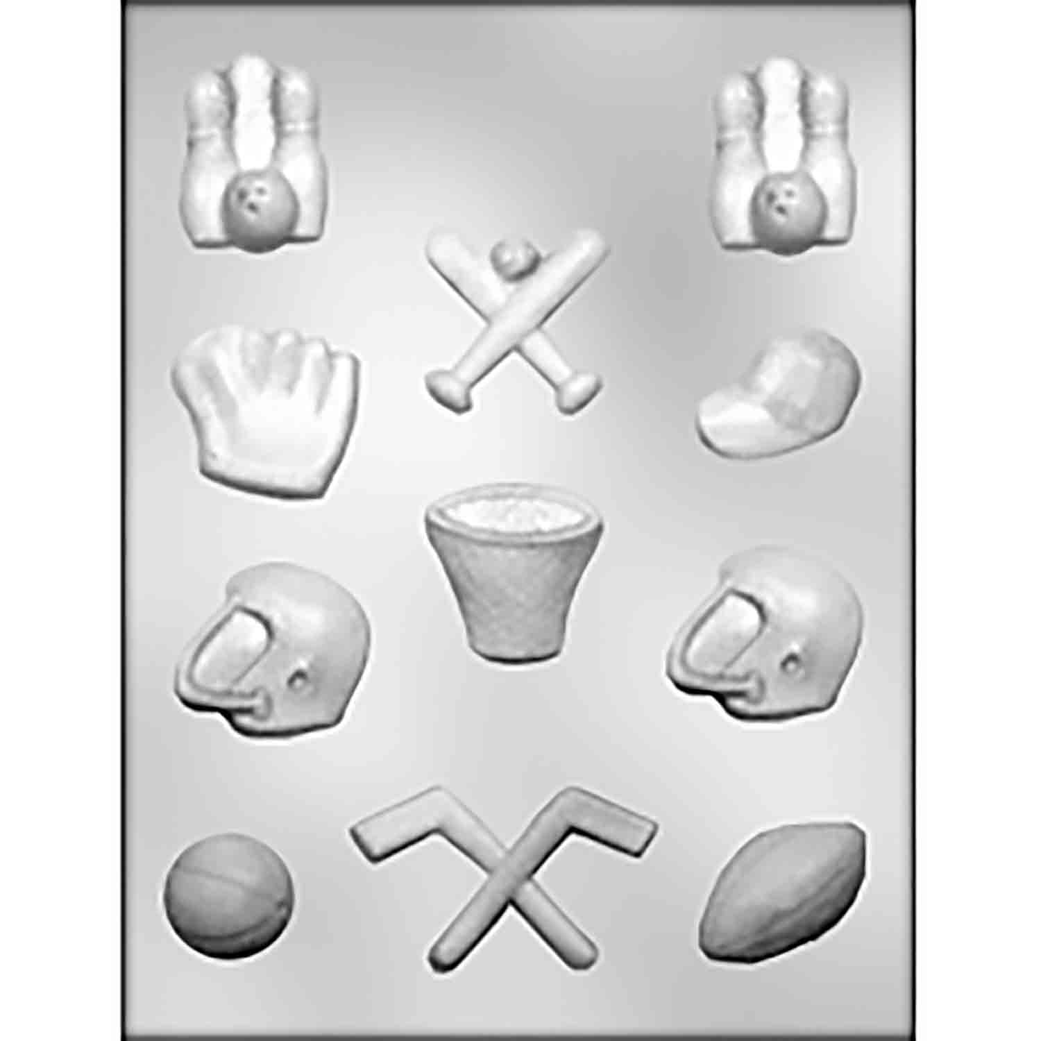 Sports Assortment Chocolate Candy Mold