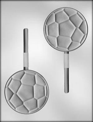 Soccer Ball Sucker Chocolate Mold