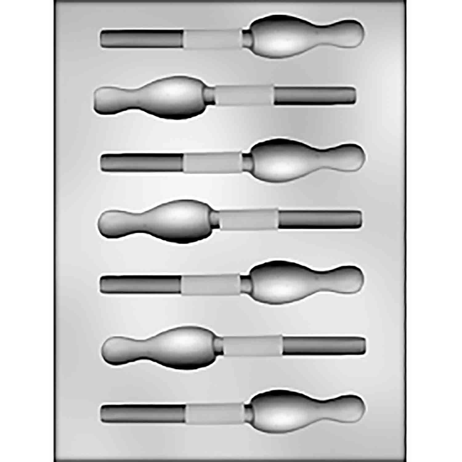 Bowling Pin Sucker Chocolate Candy Mold