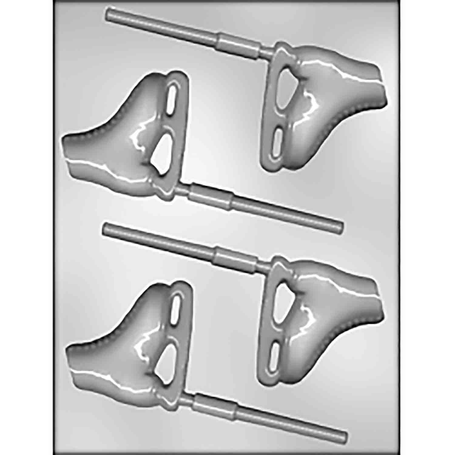 Ice Skate Sucker Chocolate Candy Mold