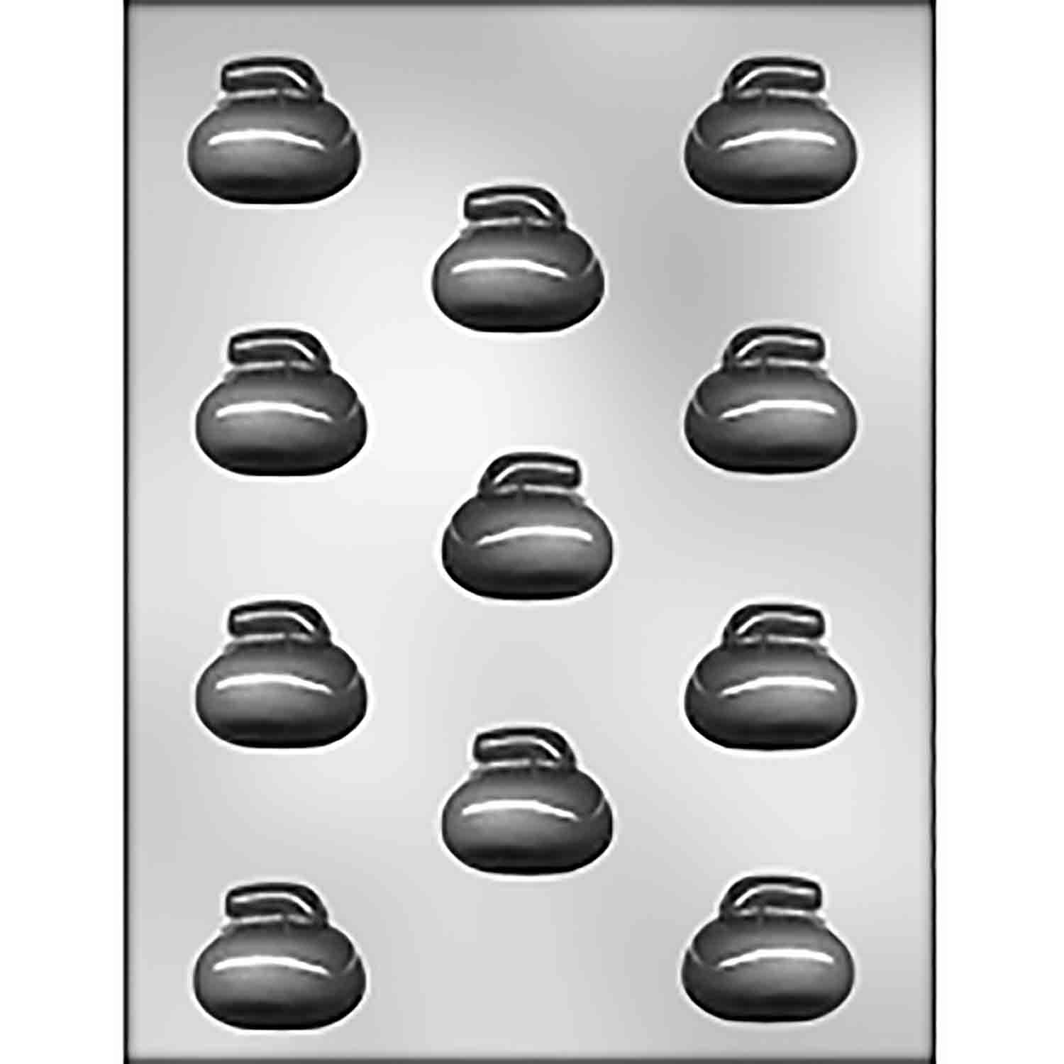 3D Curling Rock Chocolate Candy Mold