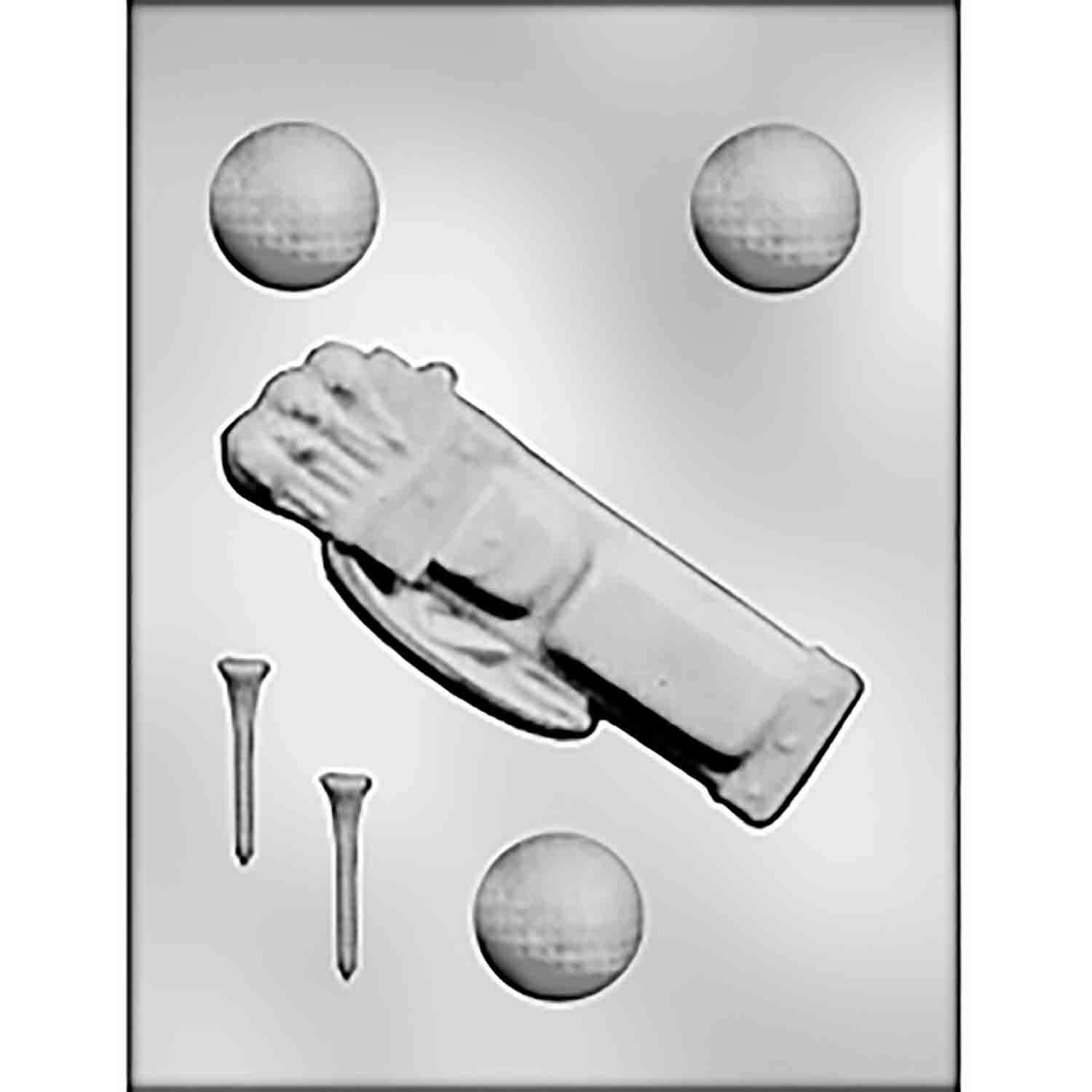 Golf Bag, Tees & Balls Chocolate Candy Mold