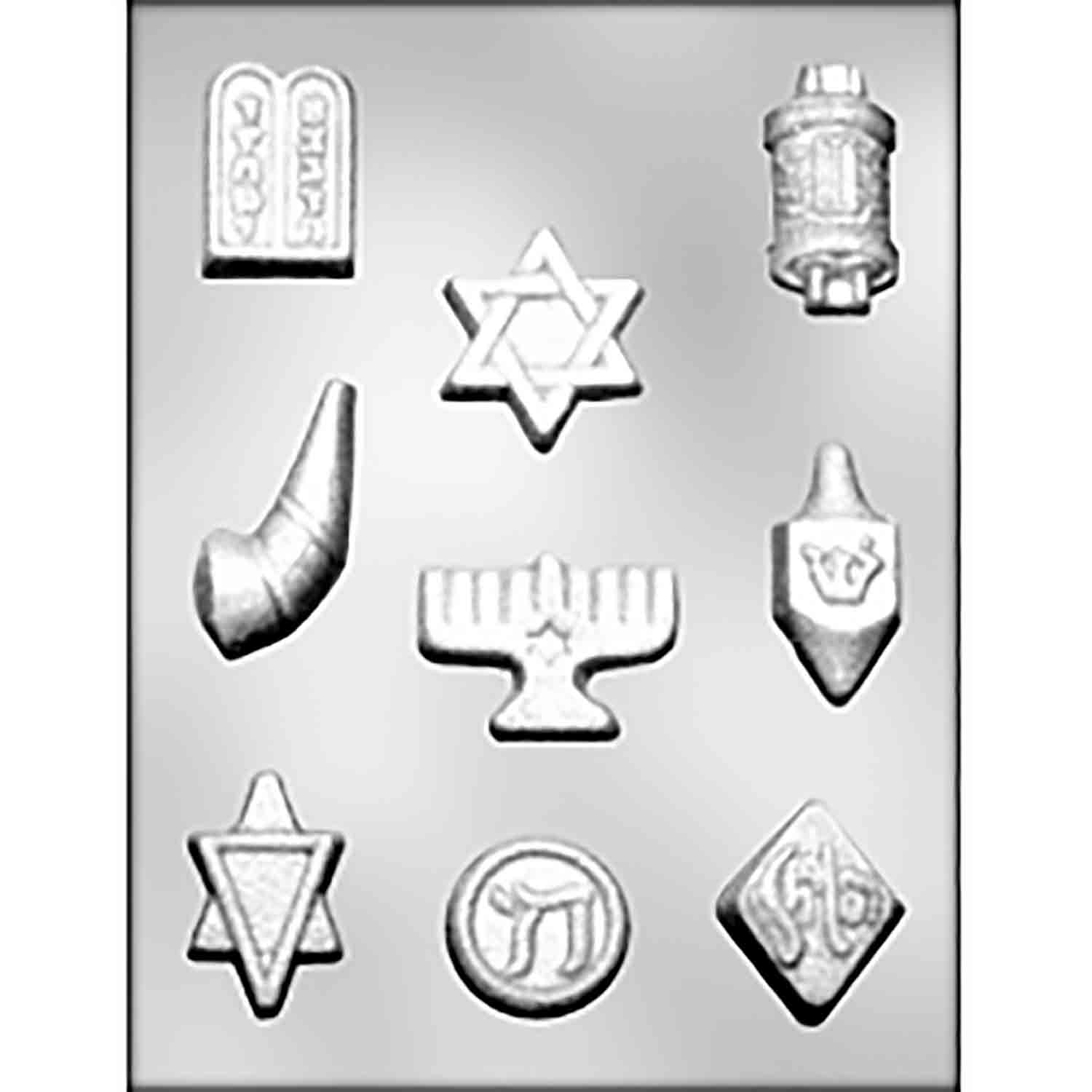 Jewish Symbols Chocolate Candy Mold