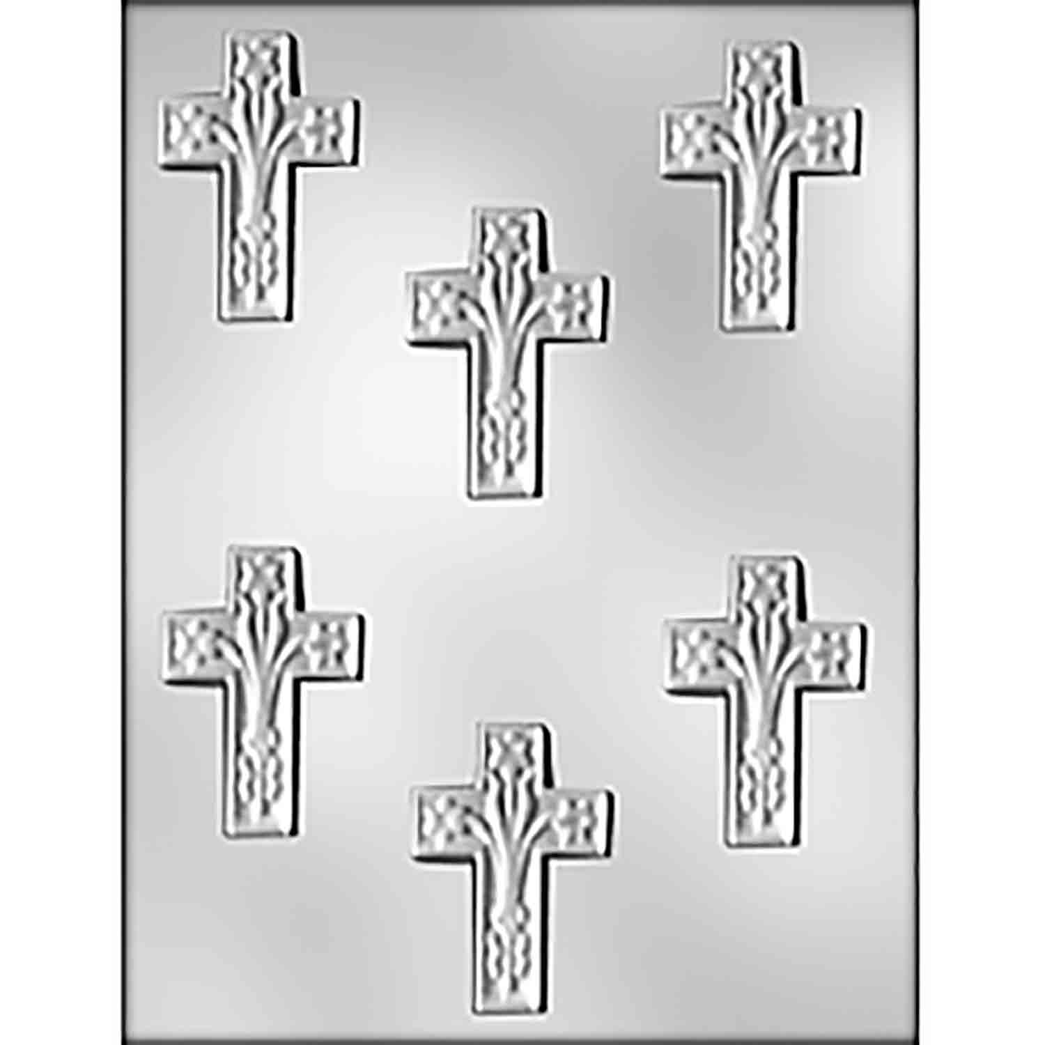 Cross with Lilies Chocolate Candy Mold