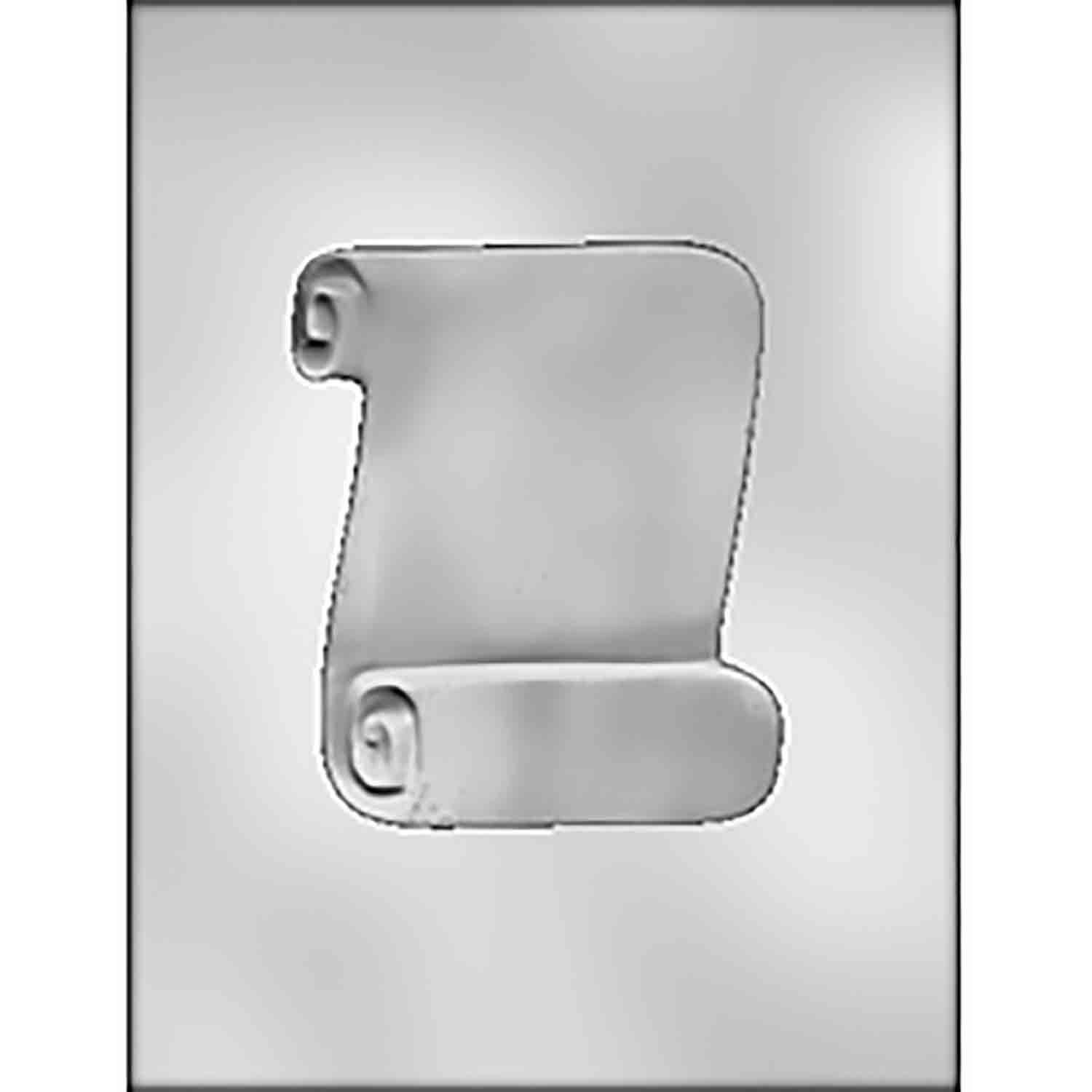 Blank Scroll Chocolate Candy Mold