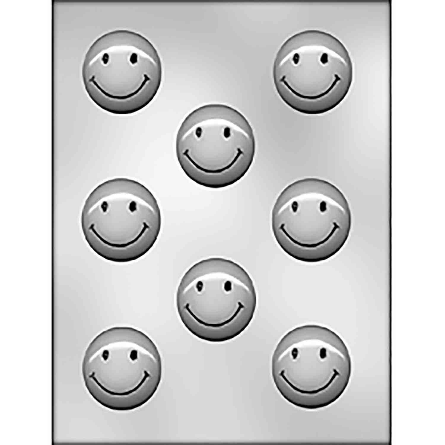 Smiley Face (Circle) Chocolate Candy Mold