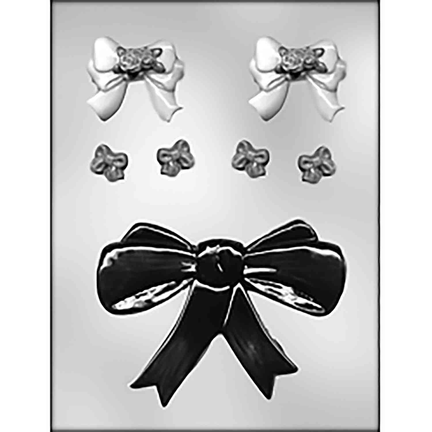 Ribbons/Bows (3 Sizes) Chocolate Candy Mold