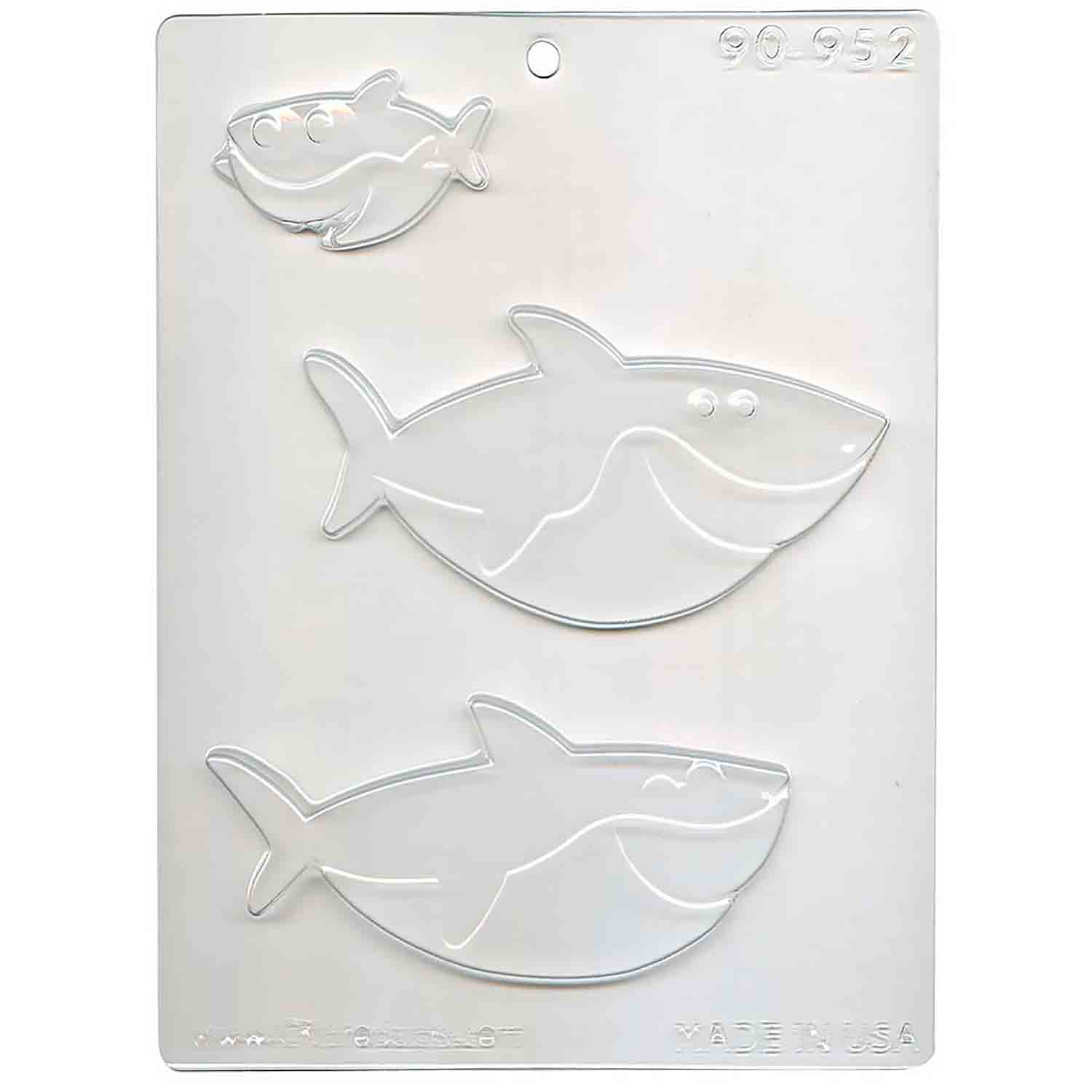 Shark Family Chocolate Candy Mold