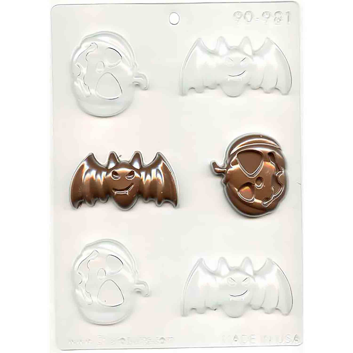 Bats and Pumpkins Chocolate Candy Mold