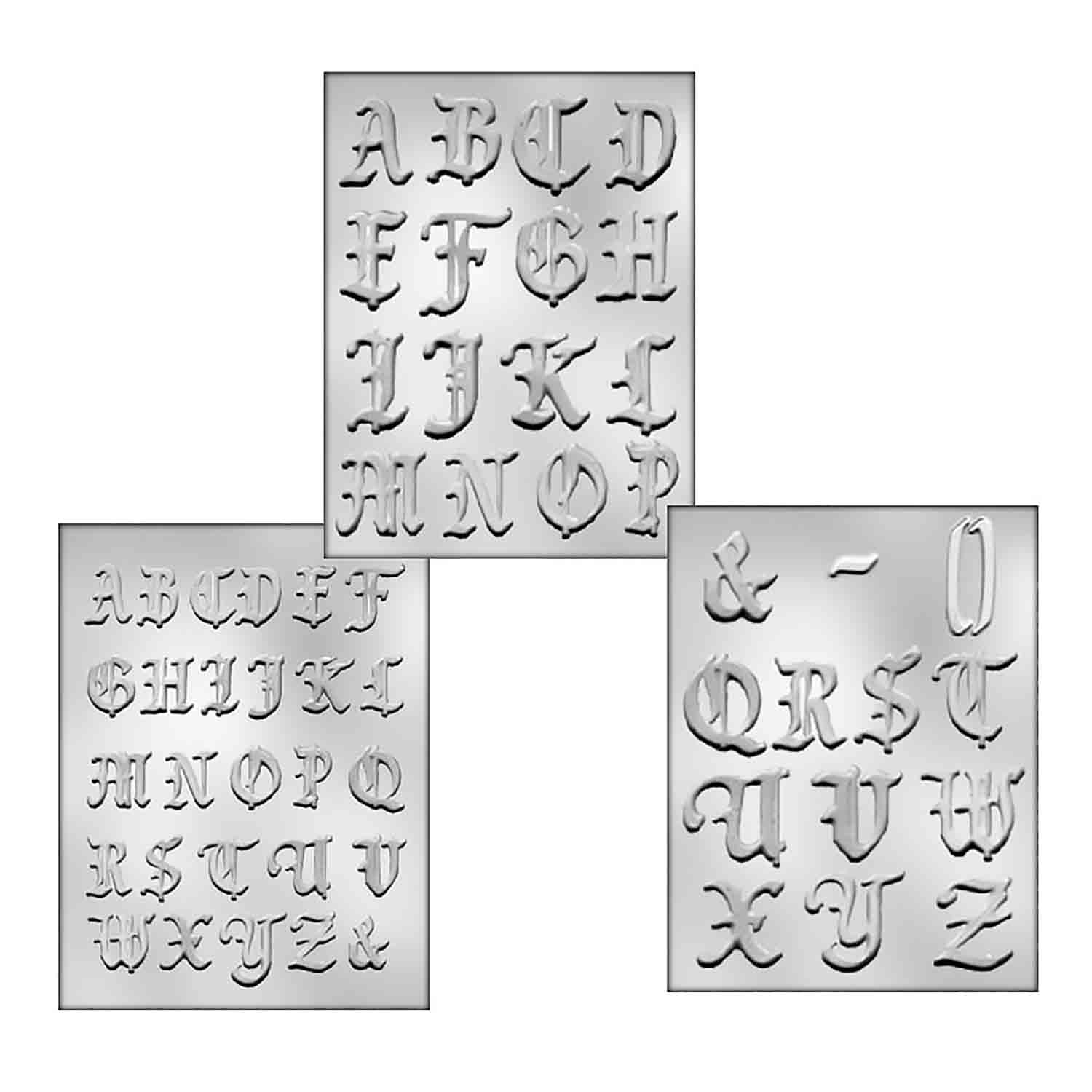 Sm. & Med. Monogram Calligraphy Set Candy Mold
