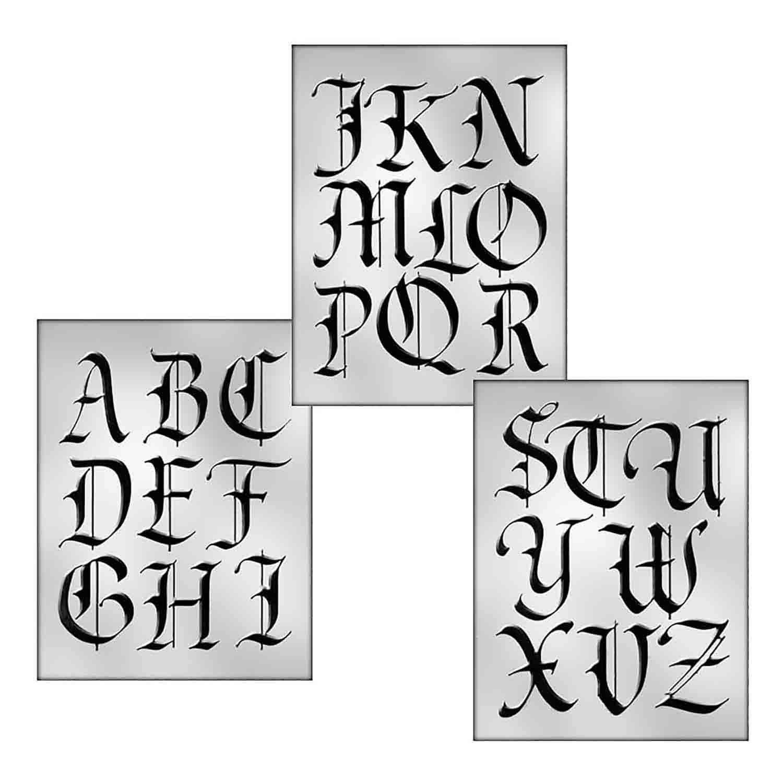 Large Monogram Calligraphy Set Candy Mold